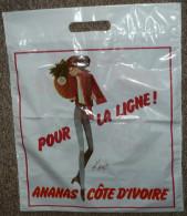 Ancienne Pochette Sac Plastique, Pin-up KIRAZ, Ananas Cote D'Ivoire - Otros
