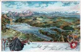 Litho Prägekarte GRUSS VOM BODENSEE - Gel.1909 - SG St. Gallen