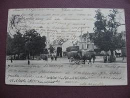 CPA 89 AUXERRE Porte De Paris Et Saint Germain 1904  ANIMEE ATTELAGE - Auxerre