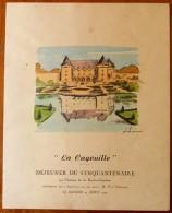 Menuè , 22.5 X 28 , LA CAGOUILLE , Déjeuner Du Cinquantenaire Au Château De La Roche Courbon  , Frais France : 2.95€ - Menú