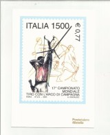 102587  17 CAMPIONATO MONDIALE TIRO CON L ARCO DI CAMPAGNA BELLA CARTOLINA - Tir à L'Arc