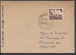 """ALLEMAGNE - 1942 -  TIMBRE """" 9ème RUBAN BRUN """" SUR ENVELOPPE POUR WUPPERTAL - - Germany"""