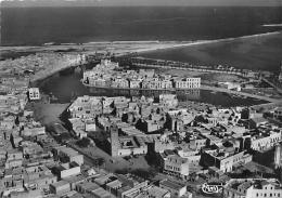 TUNISIE  BIZERTE  VUE AERIENNE GENERALE SUR LE VIEUX PORT ET LA MOSQUEE, VILLE INDIGENE - Tunisie