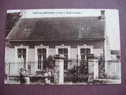 CPA 89 PACY SUR ARMANCON Ecole De Filles SEPIA ANIMEE Canton TONNERROIS - Autres Communes