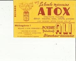 Buvard G F_21x12 -La Bombe Marocaine ATOX  Insecticide-Mouche-Mite Etc__Poudre Menagère ALI  Linge-Vaisselle Etc - Blotters