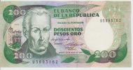 Colombia 200 Peso 1984 Pick 429b UNC - Colombie