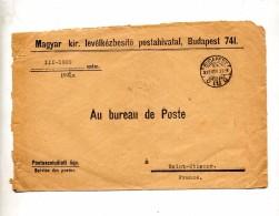 Lettre Franchise Cachet Budapest - Postmark Collection
