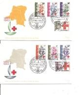 Congo -Croix-Rouge ( 2 FDC De 1963 à Voir) - Republiek Congo (1960-64)