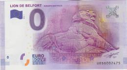 BILLET TOURISTIQUE 2016 LION DE BELFORT AUGUSTE BARTHOLDI - EURO