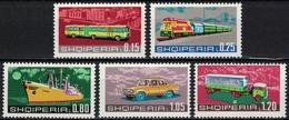 Albania 1972 _ Transportation - Full Set - MNH** - Albania