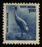 India Inde Indien 2000 ** MNH. Sarus Crane Grue Antigone Saruskranich - Kranichvögel