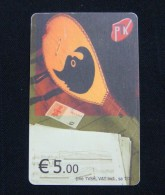KOSOVO 5 EURO CHIP CARD, PTK ND 2011, EXCELLENT QUALITY. 2 TYPE. - Kosovo