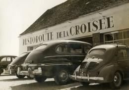 France Rouvray RN6 Premier Restoroute De France Automobiles Ancienne Photo 1954 - Cars