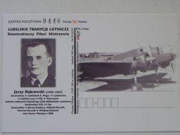 Polish  Bomber PZL P-37  Los   / Constructor J Dabrowski / /  Carte Postale - 1939-1945: 2nd War