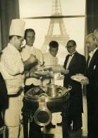 France Paris Cuisiniers Travaillant Pour L'ONU Tour Eiffel Ancienne Photo 1948