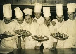France Paris Ecole Hoteliere Cuisiniers Attribution Du Prix Terre Neuve Ancienne Photo 1948 - Professions