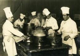 France Paris Salon De La Gastronomie Journée Marseillaise Cuisiniers Ancienne Photo 1930 - Professions