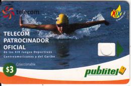 EL SALVADOR - XIX Central America & Caribbean Games/Swimming(error-reverse Not Printed), Dummy Telecard(no Chip, No CN) - El Salvador