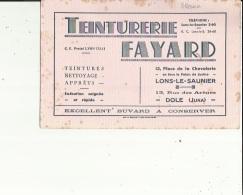 Buvard G F_21x13 -TEINTURERIE--FAYARD  Nettoyage Apprets A Lons-le Saunier 39 Et Dole 39 - Löschblätter, Heftumschläge