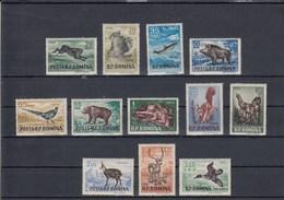 Roumanie - Année 1956 - YT 1438 à 1449 - Gibiers - Neufs** - 1948-.... Republics