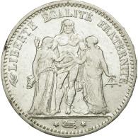 France, Hercule, 5 Francs, 1876, Bordeaux, TTB, Argent, KM:820.2, Gadoury:745a - France