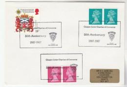 1987  GB Stamps  COVER EVENT Pmk GLASGOW JUNIOR CHAMBER OF COMMERCE Heraldic Lion - 1952-.... (Elizabeth II)