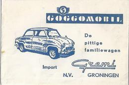 Suikerzakje.- Goggomobiel De Pittige Familiewagen. Import GREMI N.V. Groningen . Suiker - Sucre - Zucchero. 2 Scans - Sucres