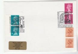 1988 GB Stamps COVER EVENT Pmk CANTERBURY PILGRIMS WAY OFFICIAL OPENING  Illus Chaucer Literature - 1952-.... (Elizabeth II)