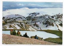 Islande--1971-Glacier TORFAJOKULL Near Hot Spring (animée),cpsm 15 X 10 N°131 éd EDDA FOTO--timbre EUROPA Au Dos - Islande