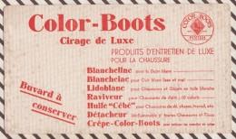 167  BUVARD COLOR BOOTS CIRAGE DE LUXE  21 X 12 CM - Wash & Clean
