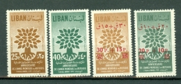 Liban 1960  Yv 191/192**, 205/206**,  MNH - Liban