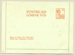 Nederlands Indië - 1922 - Postblad / Lembar Pos Met 12,5 Cent Wilhelmina Met Scheepje - Nederlands-Indië