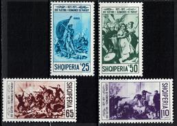 Albania 1971 _ Full Set - The 100th Anniversary Of The Paris Commune _ MNH** - Albania