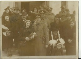 KINGDOM OF YUGOSLAVIA, SERBIA   --  ORIGINAL PHOTO  --  OFFICER, WEDDING  -  24  Cm  X 18 Cm  -  FOTO: N.  UROSEVIC, BGD - Militaria