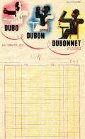 FACTURE DUBO DUBON DUBONNET 1937 LOTERIE NATIONALE - Factures