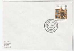 1990 GB SCHOOL OF ART Stamps COVER EVENT Pmk GLASGOW EUROPE CULTURE CAPITAL European - 1952-.... (Elizabeth II)