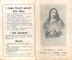 """05402 """"IVREA (TO) -PARROCCHIA DI SAN LORENZO - PASQUA 1944"""" IMMAG. RELIG. ORIGIN. - Santini"""