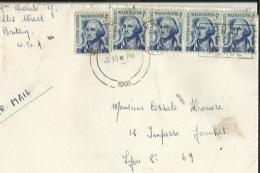 Enveloppe Timbrée De Exp: Mr Barale New-Britain-U S A -Adressé A Mr Corsale A Lyon - New Britain