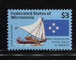 Micronesia,  1996,  Sailing Ship - Micronésie