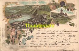 CPA  1899 !! LITHO GRUSS AUS COCHEM UNION HOTEL OTTMAR ZICHER - Cochem
