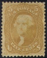 # United States   67, Mint, Disturbed Gun,  Almost 4 Margins, VERY RARE, SCV$27500...    (us067-3.    [16-BGEPR - Unused Stamps