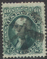 # United States   68a, Used, Sound, Dark Green,    (us067a-1.  [16-HE - Used Stamps