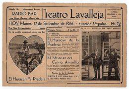 1936 Le Mystère De La Chambre Jaune ORIGINAL HERALD MOVIE PROGRAM - Otras Colecciones