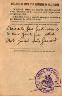 MINISTERE DE LA GUERRE ,HOPITAL ECOLE SUP DE VIENNE BULLETIN DE SANTE    REF 46728 - War 1914-18