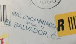Registered Cover Macedonia To Honduras 2016 ( MISSENT TO EL SALVADOR ) Mal Encaminado A Él Salvador - Mazedonien