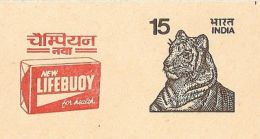 India New Lifebuoy Soap For Health Advertisement Tiger PostCard Inde Indien - Umweltverschmutzung