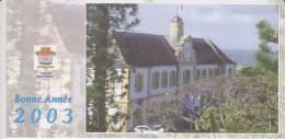 974 - ILE DE LA REUNION   - SAINT PIERRE -  Carte De Vœux Du Maire 2003 - Saint Pierre