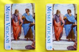 VATICANO - 2016, TWO TICKETS ENTRANCE VATICA MUSEUM IN ROME - Tickets - Entradas
