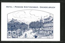 CPA Illustrateur Grendelbruch, Hotel-Pension Kretzschmar - Non Classés