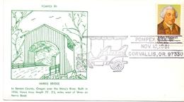 USA POMPEX STATION CORVALLIS 1981 HARRIS BRIDGE   (MA160005) - Ponti